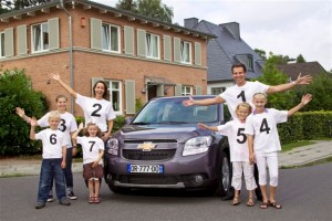 New Chevrolet Orlando family van
